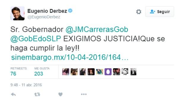 Eugenio Derbez Carreras justicia