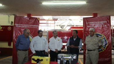 Photo of Diputado Marco Gama donó equipo para los Bomberos de San Luis Potosí