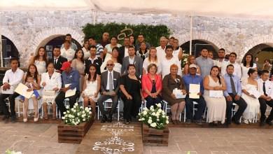 Photo of Más de 50 personas se casaron simultáneamente en Plaza Aranzazú