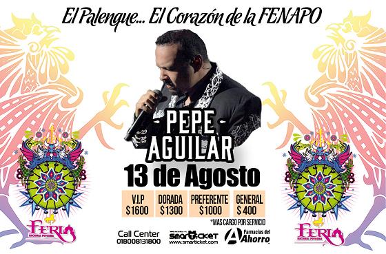 Pepe Aguilar palenque FENAPO 2016