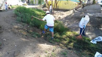 Photo of Vecinos de Delegación Villa de Pozos limpian el bordo del Río Españita