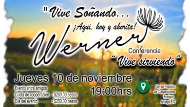 """Photo of Se presenta la conferencia """"Vive sirviendo"""" a cargo de Werner Aguilera Bandín"""
