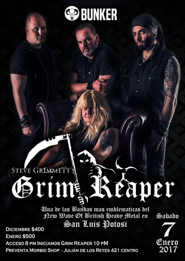 Grim Reaper en San Luis Potosí @ Steel Metal Bunker