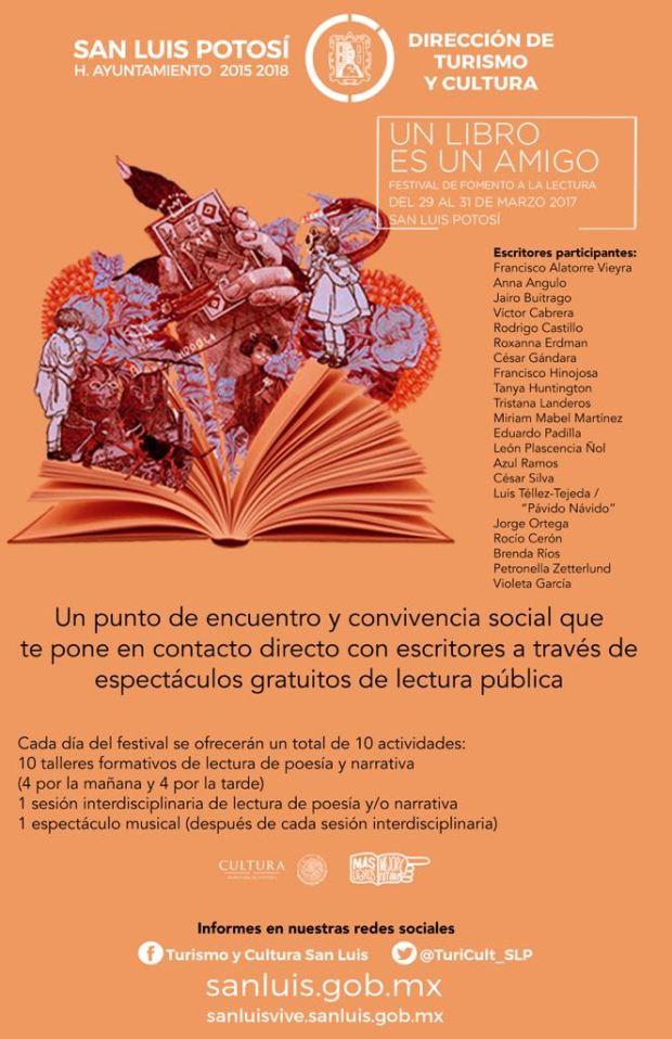 Un libro es un amigo. Festival de Fomento a la Lectura @ Centro Cultural Palacio Municipal | San Luis Potosí | San Luis Potosí | México