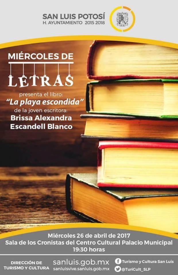 """Miércoles de letras: presentación del libro """"La playa escondida"""" @ Centro Cultural Palacio Municipal"""