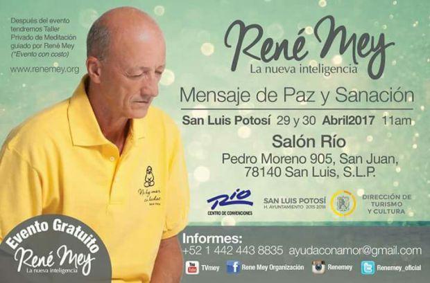 René Mey en San Luis Potosí @ Salón Río | San Luis Potosí | San Luis Potosí | México