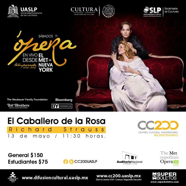 """""""El Caballero de la Rosa"""" desde el MET de N @ Centro Cultural Universitario Bicentenario"""
