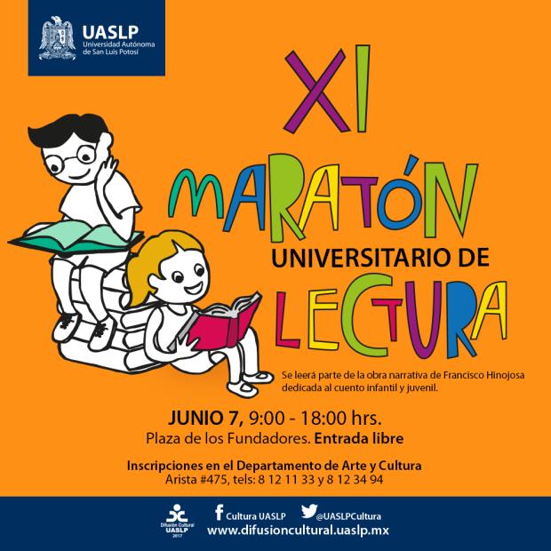 XI Maratón Universitario de Lectura @ Departamento de Arte y Cultura | San Luis Potosí | San Luis Potosí | México