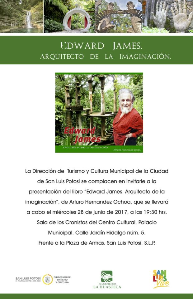 """Presentación del libro: """"Edward James"""" arquitecto de la imaginación @ Centro Cultural Palacio Municipal"""