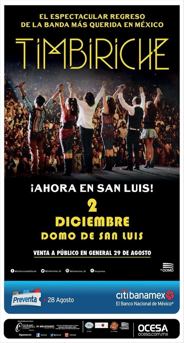 Timbiriche en San Luis Potosí @ El Domo