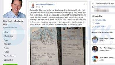 Photo of Diputado acusado de corrupción pide «tronar» a una persona