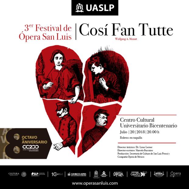 Concierto: Cosí Fan Tutte de Mozart @ Centro Cultural Universitario Bicentenario