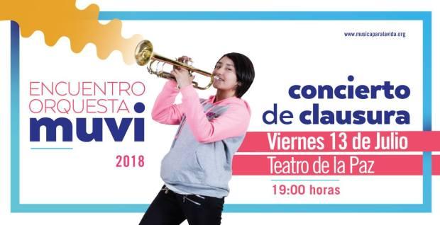Concierto de Clausura del Encuentro Orquesta MUVI 2018 @ Teatro de la Paz