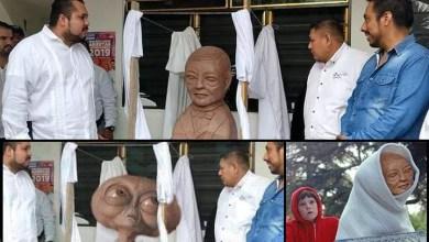 Photo of Escultura chusca de Benito Juárez en SLP se vuelve viral