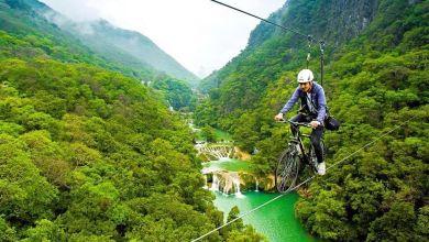 Photo of La tirolesa en bici más larga del mundo están en San Luis Potosí