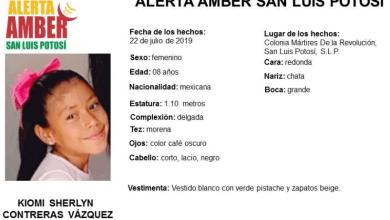 Photo of Alerta Amber en SLP para encontrar niña de 8 años