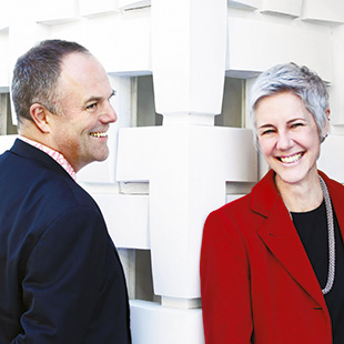 Mark Dytham (left) and Astrid Klein (right)