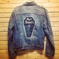 Vintage BLACK SABBATH painted denim jacket we recently got in store. This one will NOT last! #metropolis #metropolisvintage #metropolisnycvintage #blacksabbath #ozzy #ozzyosbourne #dio #heavymetal