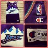 UTAH JAZZ Champion Jersey! Size XL 18-20 #metropolis #metropolisvintage #metropolisnycvintage #utahjazz #utah #jazz #basketball #jersey #champion #championjerseys