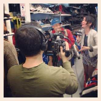 Having fun with FUSE TV while filming the latest episode of their show GLAM OR SHAM with Katie Van Buren. Check it out this Friday at 5 pm! #fusetv #metropolisnycvintage #metropolisvintage #metropolis #glamorsham #katievanburen