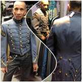 Metropolis favorite customer Hector checking out one of our newly discovered R.O.T.C. military jackets