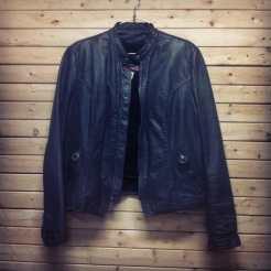 Stand collar motor cycle jacket #motocycle #vintagemotorcycle #leather #fetish #vintagejacket #motorcyclenewyorkcity #newyorkcity