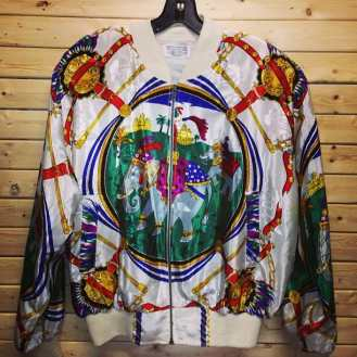 Always a large selection of baroque jackets in stock at our store. #baroquejacket #baroque #vintage90s #vintagenyc #vintage80s #vintagejacket #mcm #gucci #versace #vintageverace #donatellaversace #tribenyc #tribe