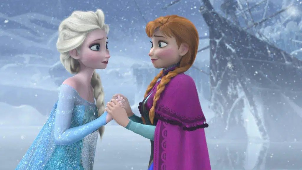 "Elsa e Anna in ""Frozen"""