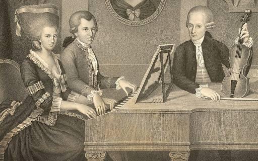 Ritratto di Wolfgang Amedeus Mozart e di suo padre Leopold Mozart