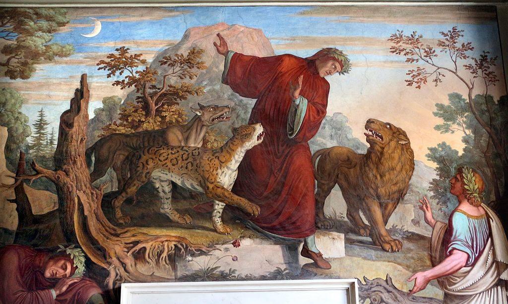 """""""Dante incontra le tre fiere e Virgilio"""" - Joseph Anton Koch - Foto da : Wikimedia"""