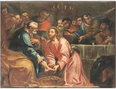 Giovedì santo, scena lavanda dei piedi- Fonte: Cercare la fede