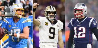 Philip Rivers - Drew Brees - Tom Brady - Getty Images