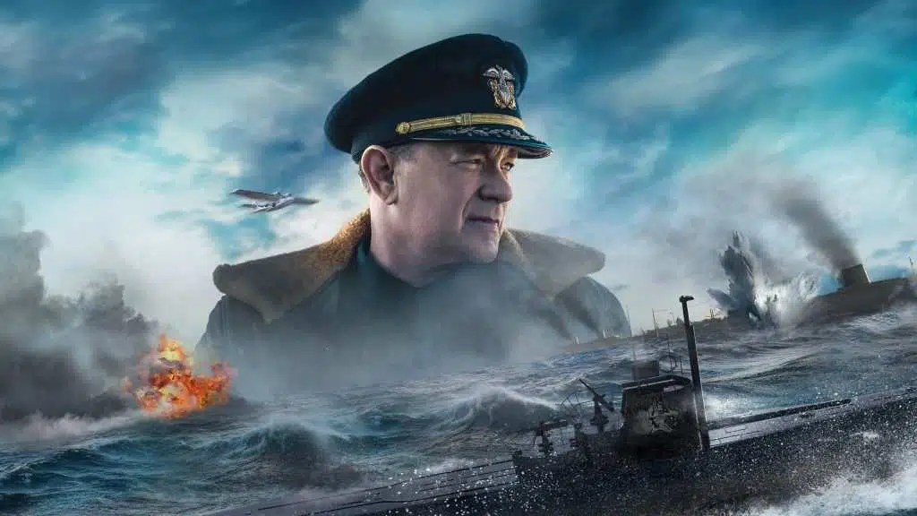 Tom Hanks nella grafica del poster di Greyhound (2020) - Photo credit : web