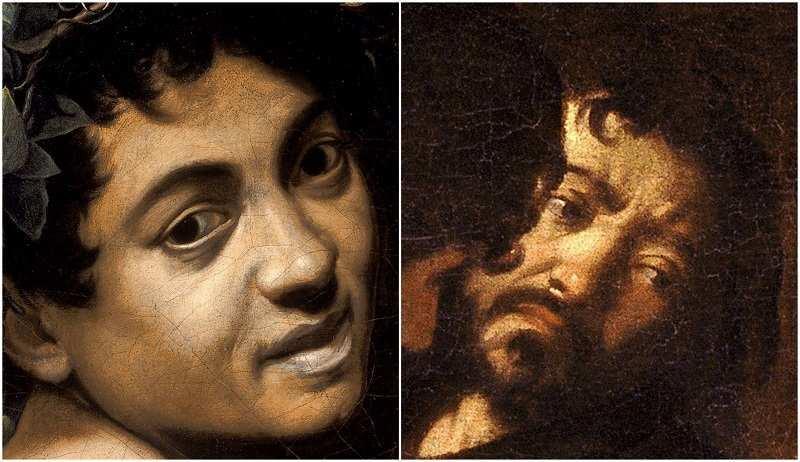 Autoritratti di Caravaggio all'interno di opere - Photo Credits: web