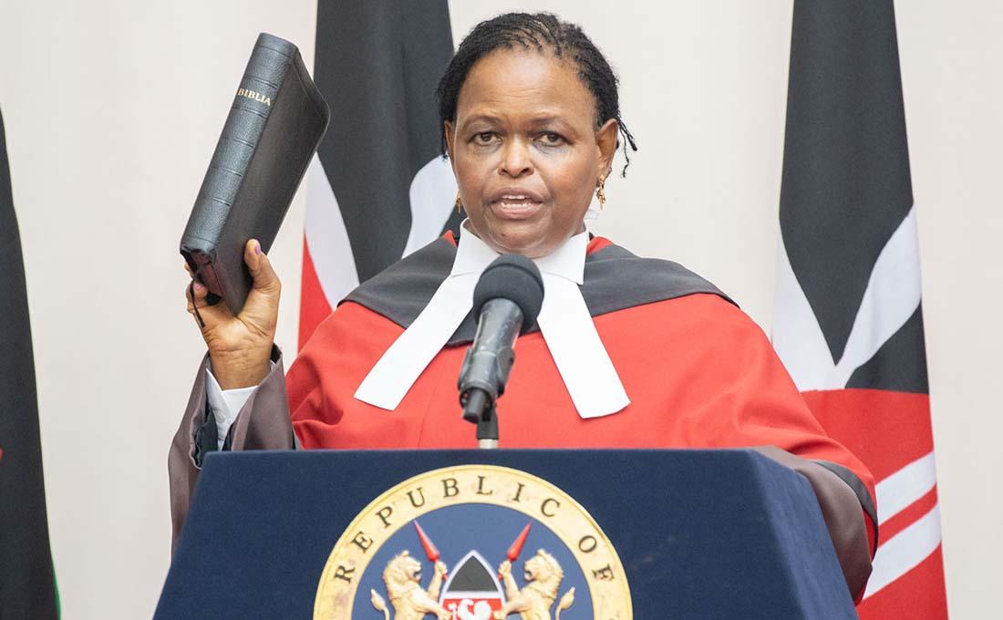 Martha Koome sworn in as Kenya's Chief Justice