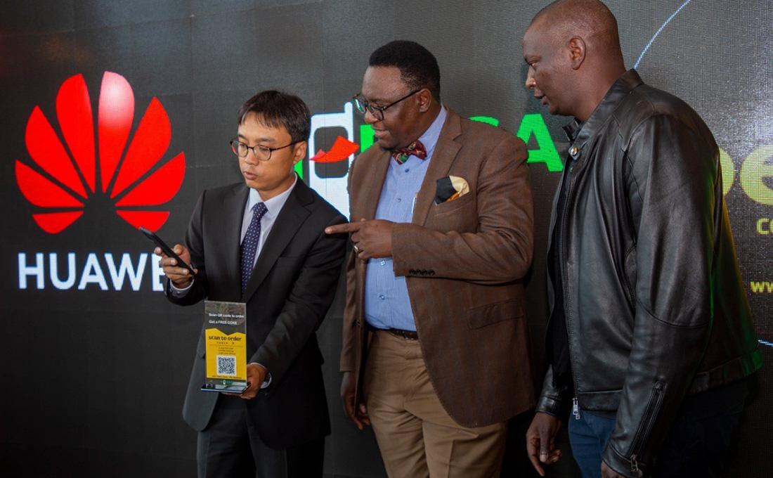 Safaricom, Huawei unveil 'Scan & Order' digitisation solution for restaurants