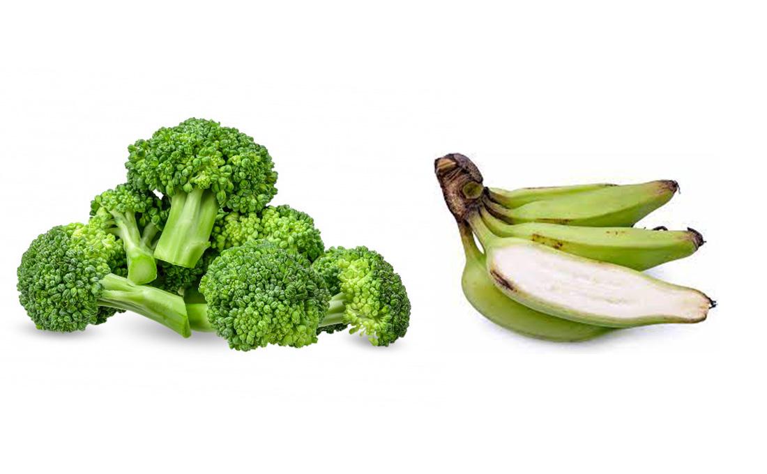 Tap into the open Korean market of unripe bananas and Broccoli