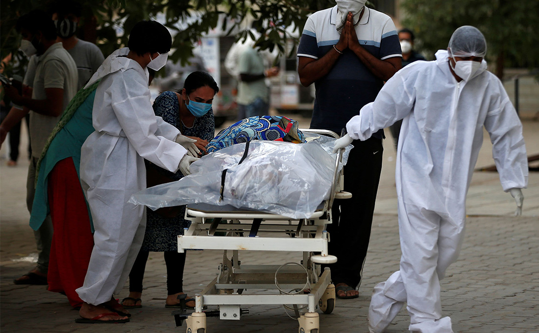 India reports record 4,529 COVID-19 deaths as cases top 25 million