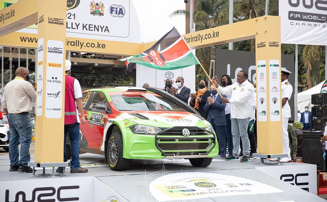 Uhuru flags off 2021 WRC Safari Rally