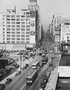 Broadway at Olympic Boulevard, 1940
