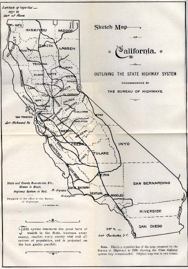 1896 California state highway map