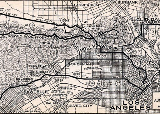 1926 Mulholland map