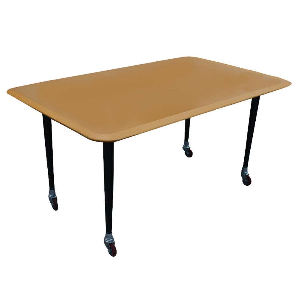 5ft Vintage Haworth Work Table Desk On Casters Ebay
