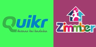 Zimmber got acquired by Quikr