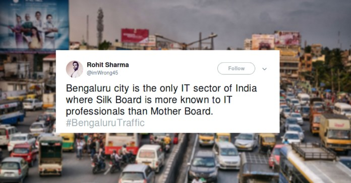 bengaluru traffic tweets