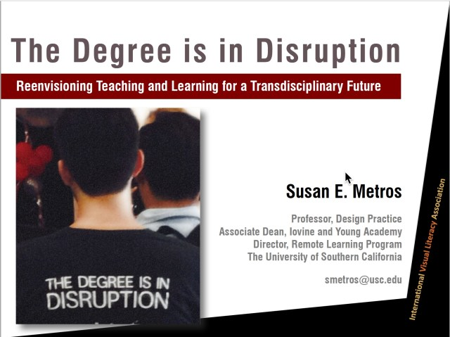 THe Degree is in Disruption Talk