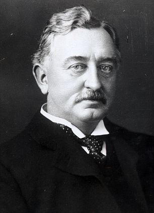 AFRICAN STATESMAN CECIL RHODES IN 1892.