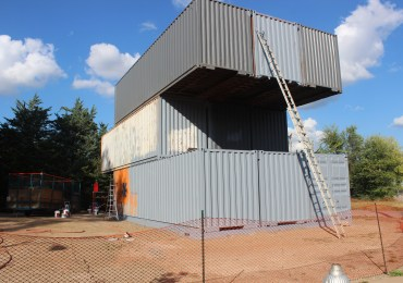 Container Home Stacks Up Next to Crown Candy
