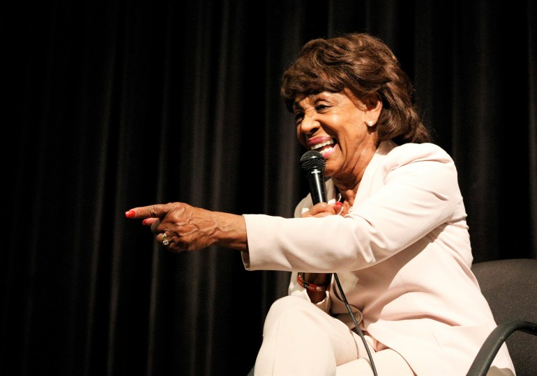 Maxine Waters visits Vashon