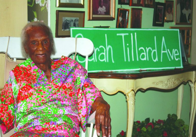 Sarah Tillard, 104, to be immortalized with honorary street renaming